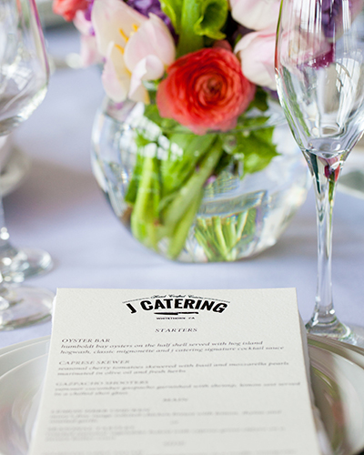 J Catering table setting